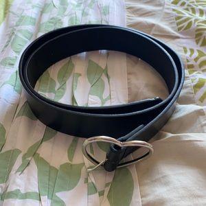 Silver Heart Buckle Belt